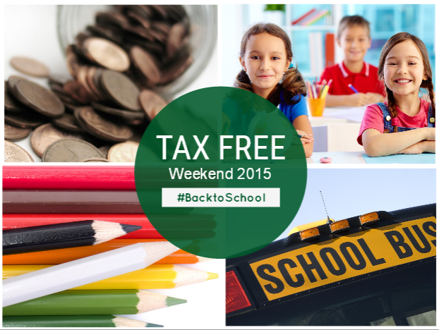 Back-to-School Tax Free Weekend 2015