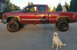 Photo of Silverado Truck that Brian was able to purchase with the lump sum he received from Liberty Settlement Funding.